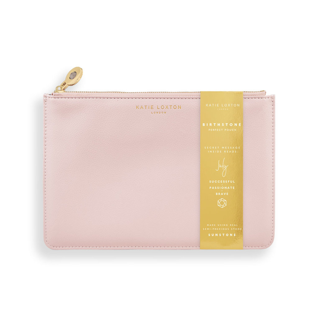 Katie Loxton Birthstone Perfect Pouch - July Sunstone - Blush Pink