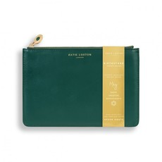 Katie Loxton Birthstone Perfect Pouch - May Green Agate - Dark Green
