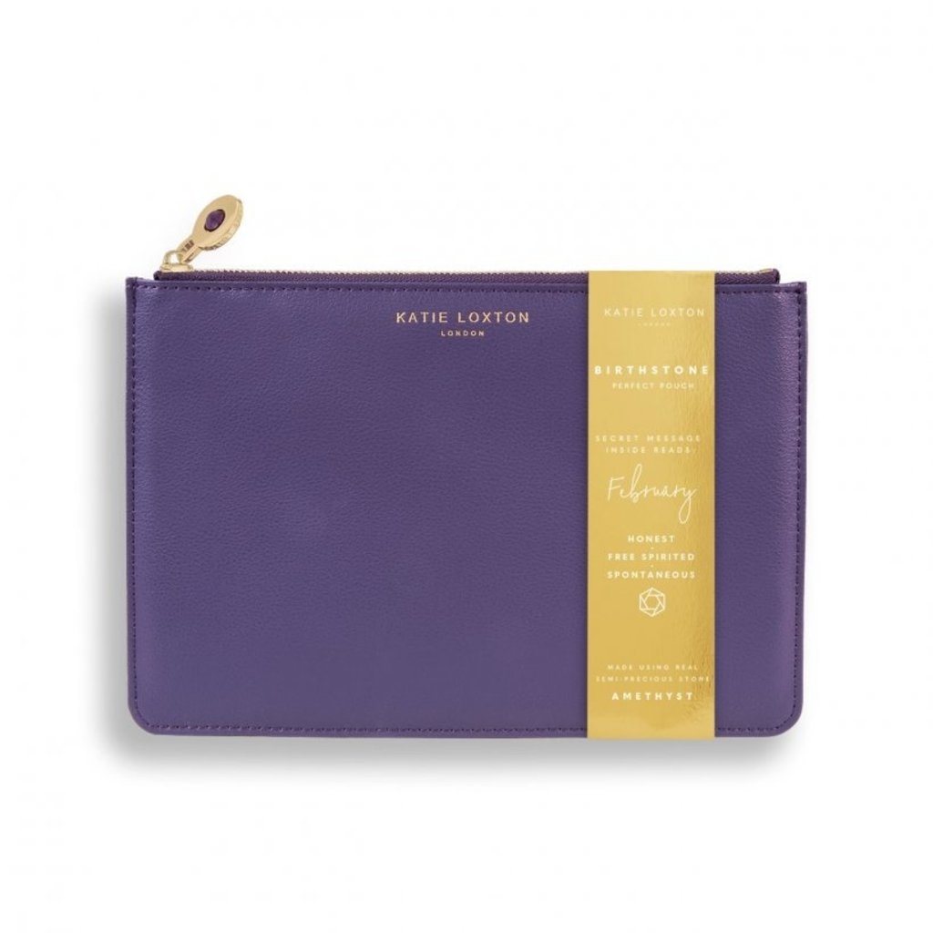 Katie Loxton Birthstone Perfect Pouch - February Amethyst - Purple