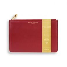 Katie Loxton Birthstone Perfect Pouch - January Garnet - Dark Red