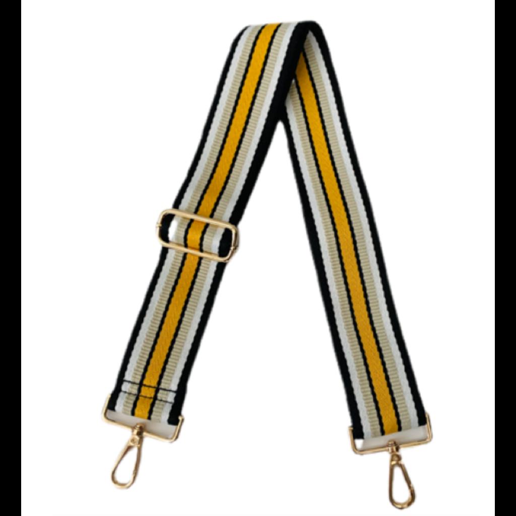 "Ahdorned Adjustable  2"" Multi Horizontal Stripe Strap"