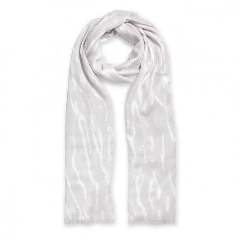 Printed Scarf - Zebra Print - Pale Gray