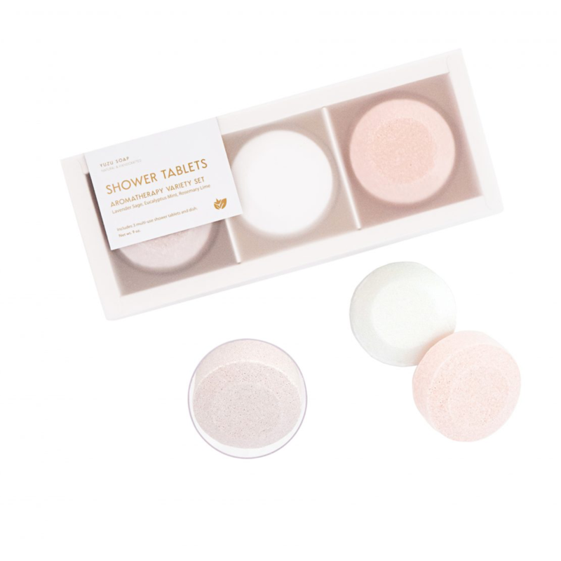 Yuzu Soap Multi-Use Shower Tablets (Set of 3) - Aromatherapy Variety Set