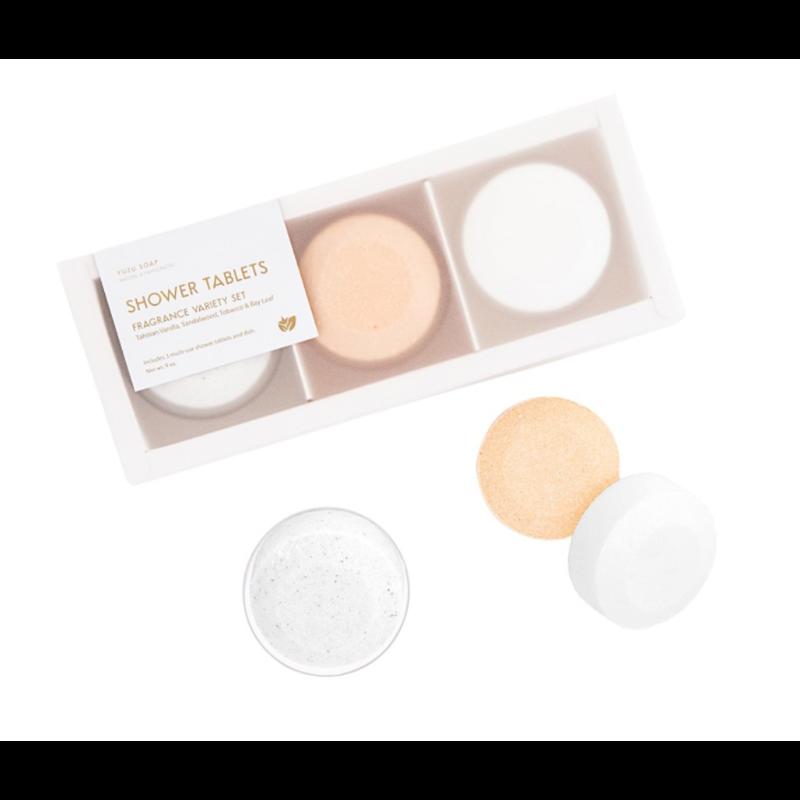Yuzu Soap Multi-Use Shower Tablets (Set of 3) - Fragrance Variety Set
