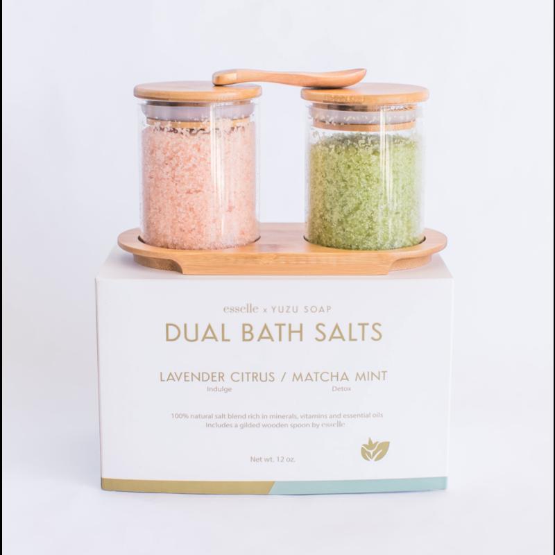 Yuzu Soap Dual Bath Salt Set - Lavender Citrus & Matcha Mint
