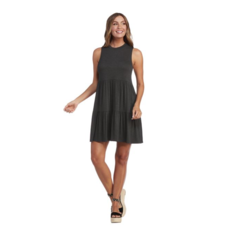 Mud Pie Mud Pie Tully Tiered Dress - Charcoal - L
