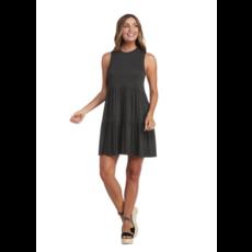 Mud Pie Mud Pie Tully Tiered Dress - Charcoal - XL