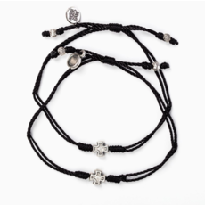 My Saint My Hero My Saint My Hero - Prayer Partner Bracelets - Black/Silver