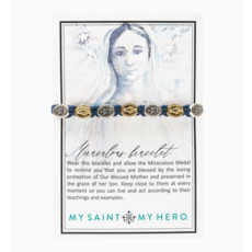 My Saint My Hero My Saint My Hero - Miraculous Mary Blessing Bracelet Mixed Metals Black