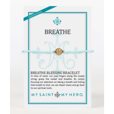 My Saint My Hero My Saint My Hero - Breathe Bracelet-Mint/Gold