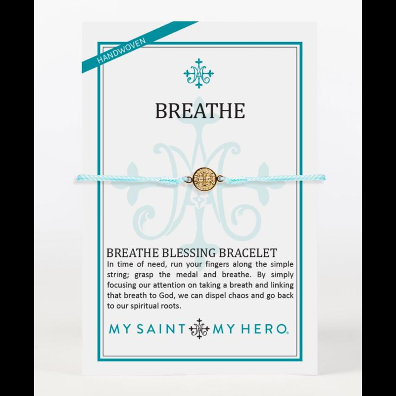 My Saint My Hero Breathe Bracelet-Mint/Gold