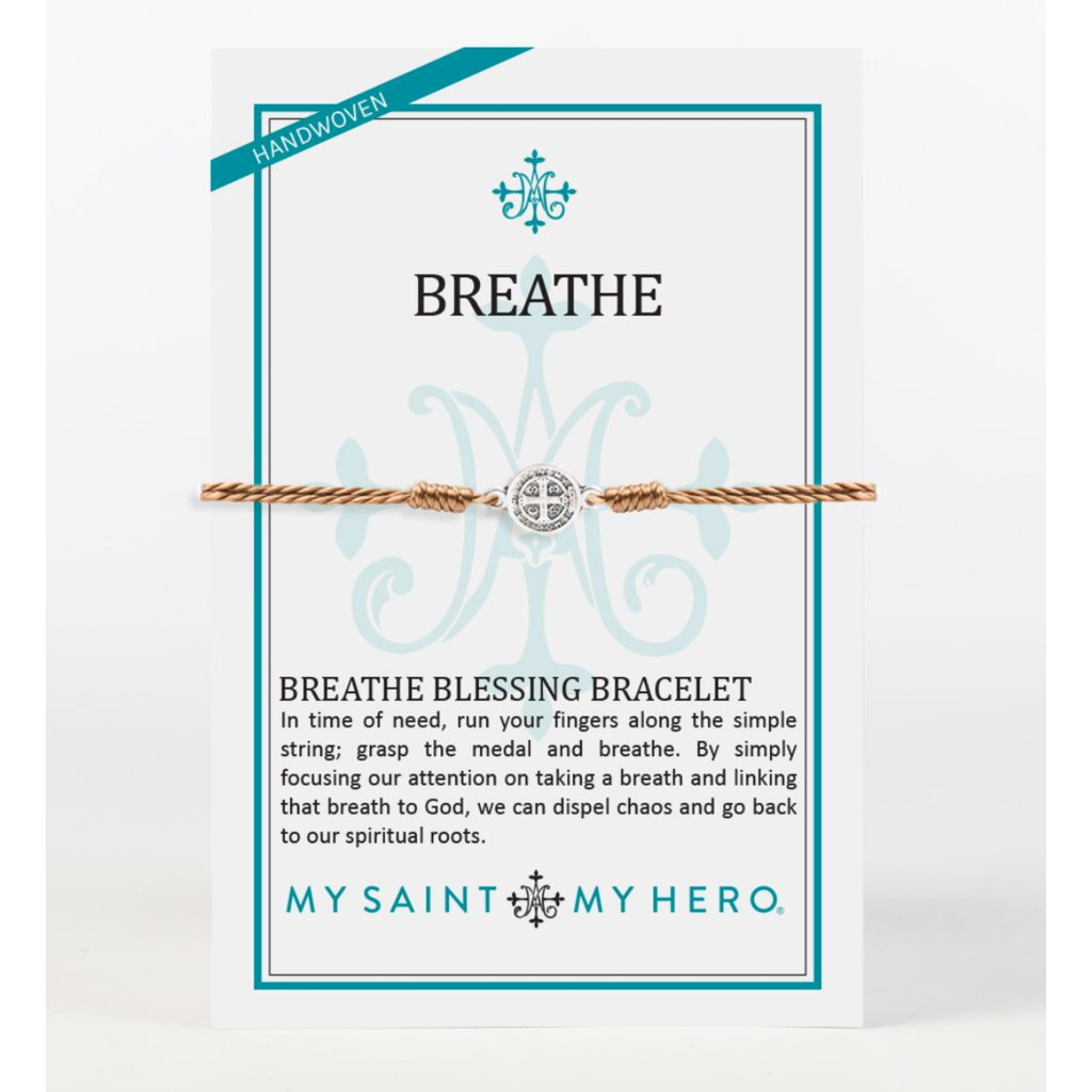 My Saint My Hero My Saint My Hero - Breathe Bracelet - Taupe/Silver
