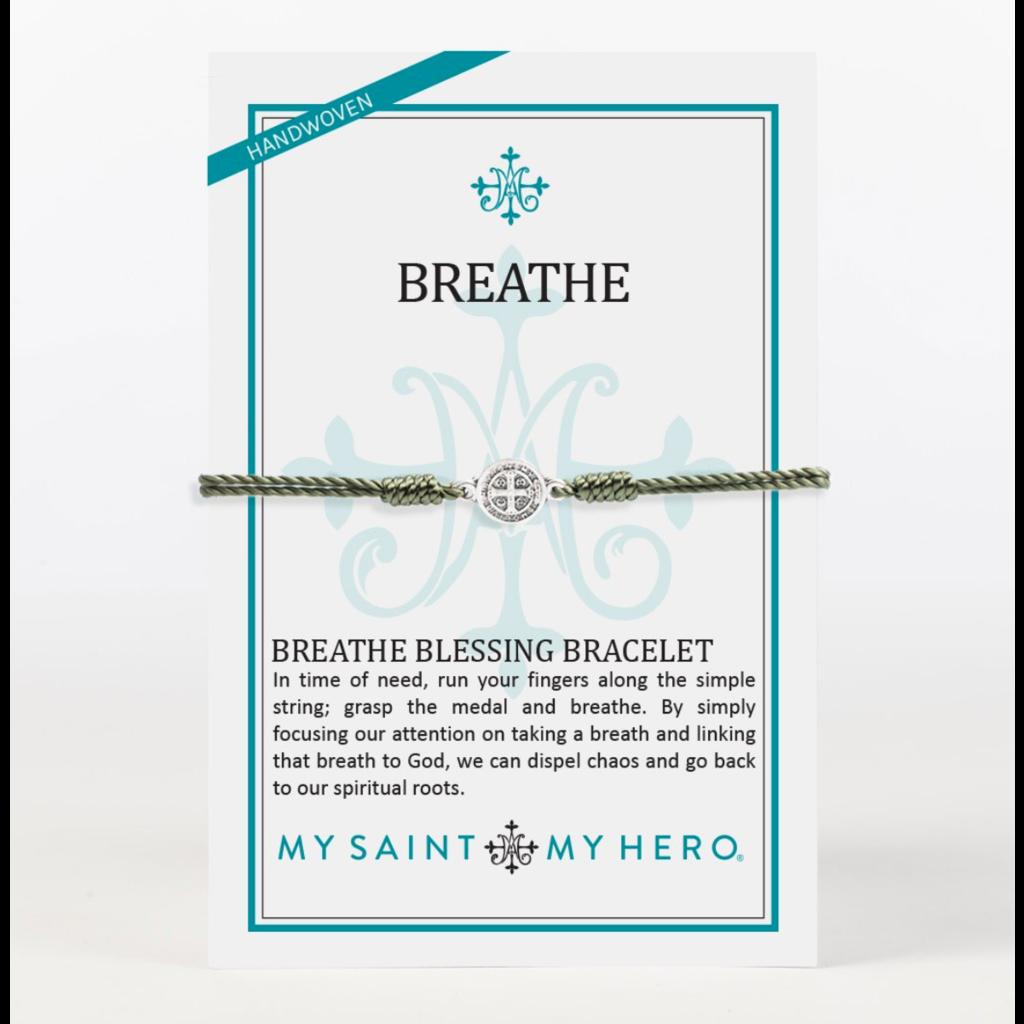 My Saint My Hero My Saint My Hero - Breathe Bracelet - Olive/Silver