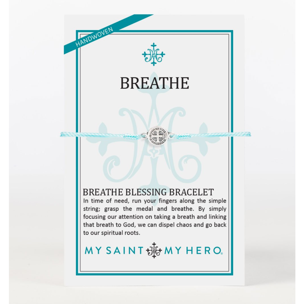 My Saint My Hero My Saint My Hero - Breathe Blessing Bracelet-Mint/Silver