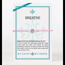 My Saint My Hero My Saint My Hero - Breathe Blessing Bracelet - Pink/Silver