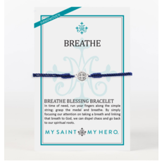 My Saint My Hero My Saint My Hero - Breathe Blessing Bracelet - Navy/Silver