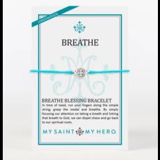 My Saint My Hero My Saint My Hero - Breathe Blessing Bracelet - Turquoise/Silver