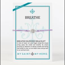 My Saint My Hero My Saint My Hero - Breathe Blessing Bracelet - Purple/Silver