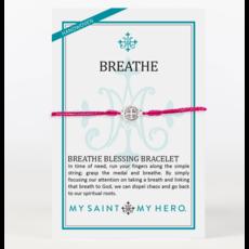 My Saint My Hero My Saint My Hero - Breathe Blessing Bracelet - Merlot/Silver