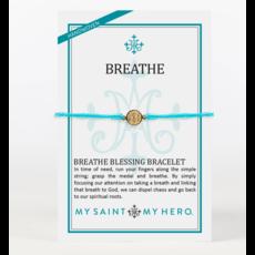 My Saint My Hero My Saint My Hero - Breathe Blessing Bracelet -Turquoise/Gold