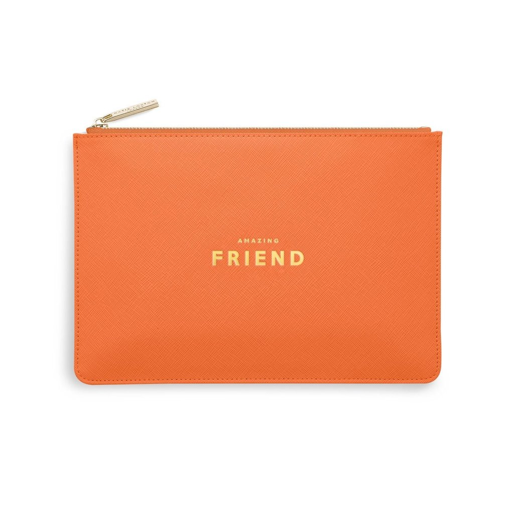 Katie Loxton Perfect Pouch - Amazing Friend - Orange