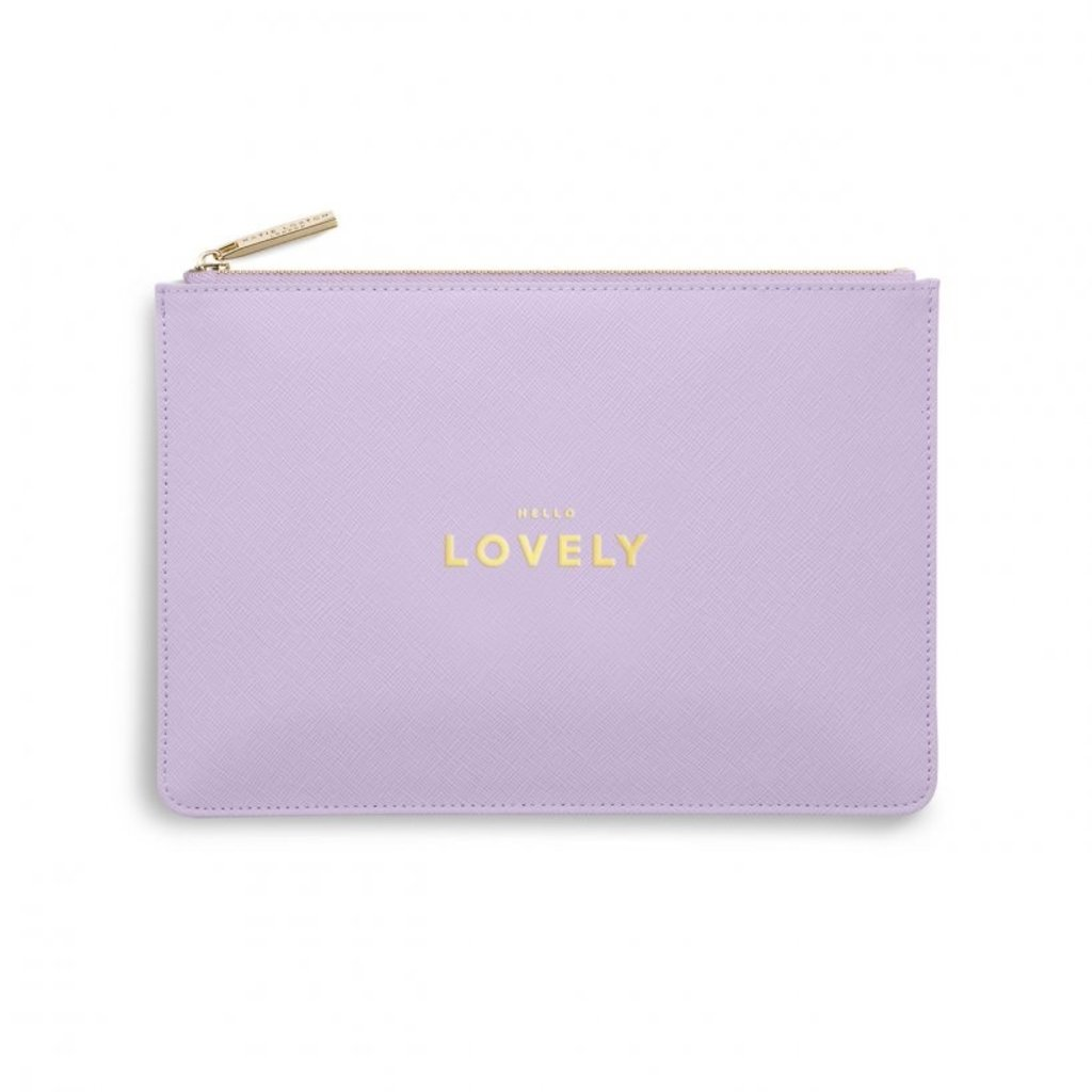 Katie Loxton Perfect Pouch - Hello Lovely - Lilac