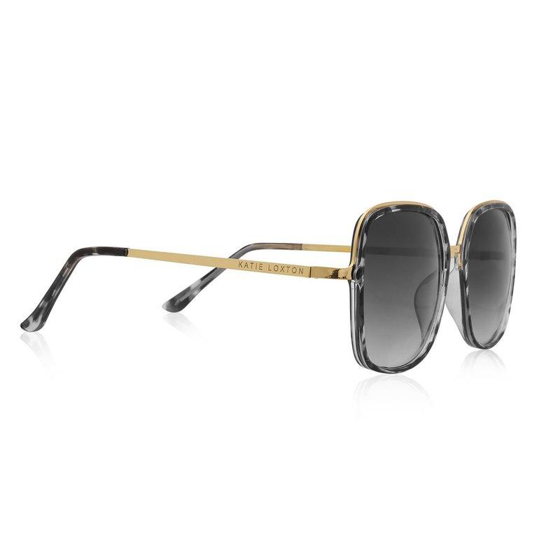 Valencia Square Frame Sunglasses - Gray and Black