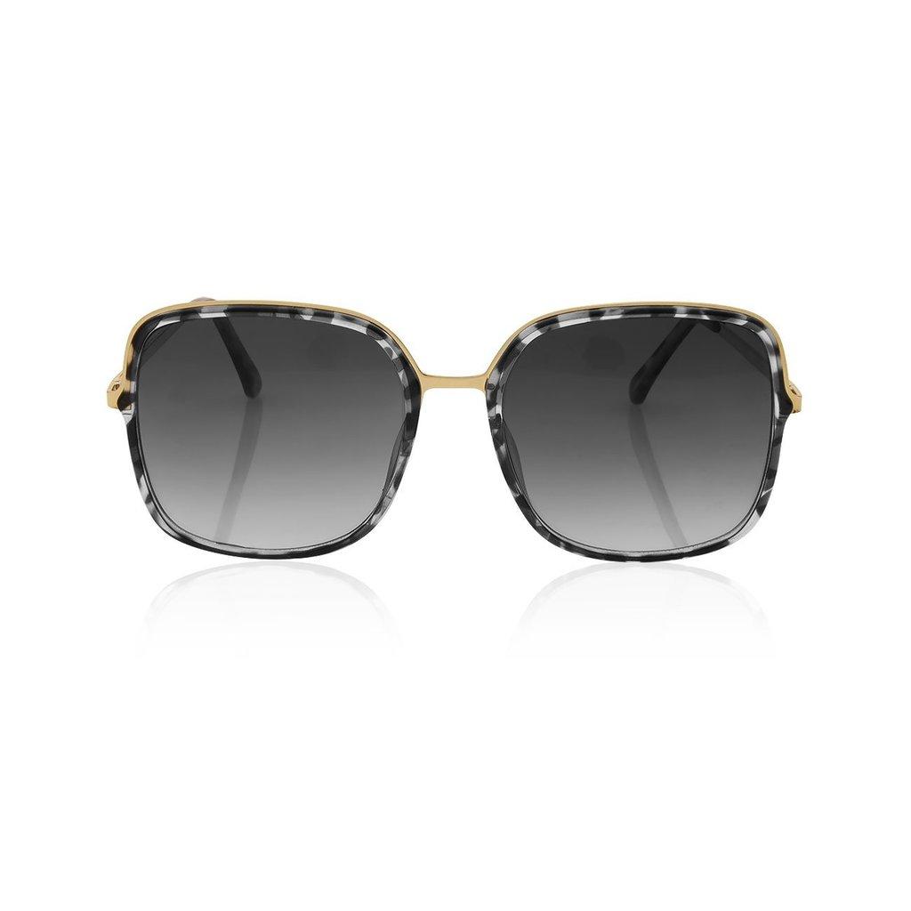 Katie Loxton Valencia Square Frame Sunglasses - Gray and Black