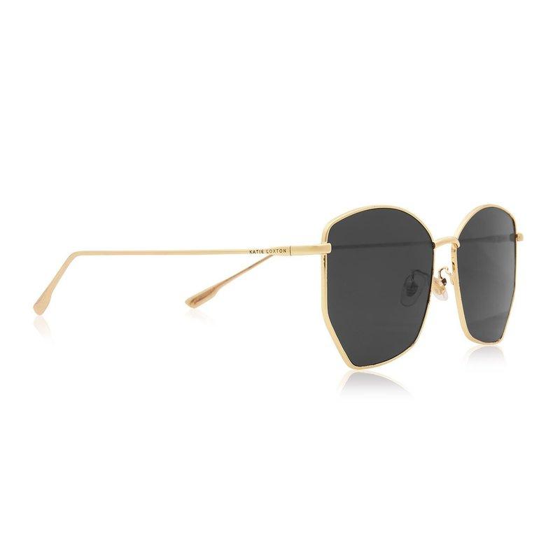 Havana Metal Frame Sunglasses - Black