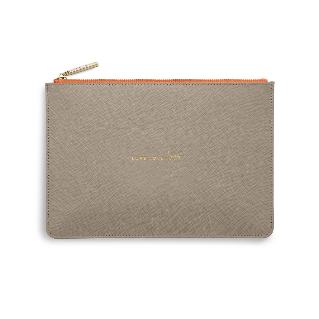Katie Loxton Color Pop Perfect Pouch - Love Love Love - Taupe & Orange