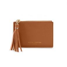 Katie Loxton Sophia Tassel Coin/Card Purse - Cognac