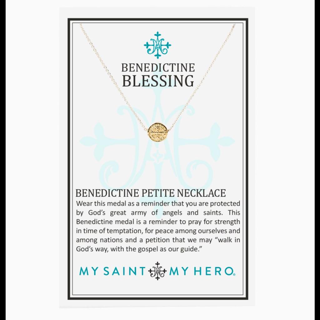 My Saint My Hero My Saint My Hero - Benedictine Petite Necklace - Silver