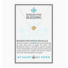 My Saint My Hero My Saint My Hero - Benedictine Petite Necklace - Gold