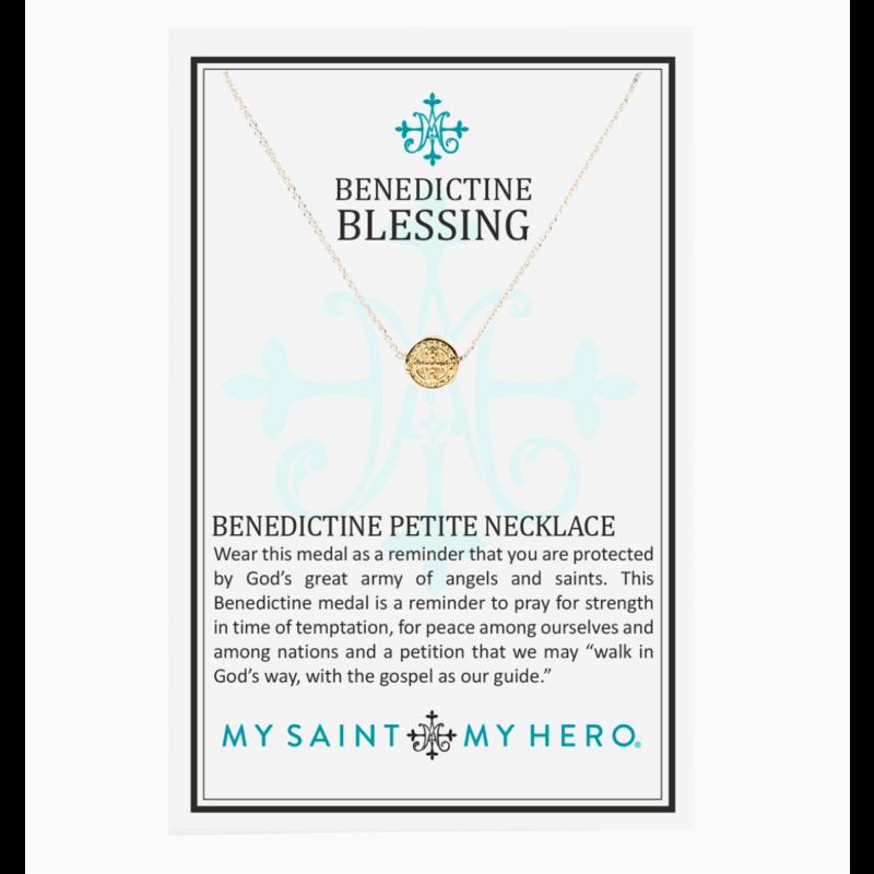 My Saint My Hero Benedictine Petite Necklace - Gold