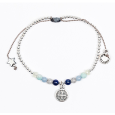 My Saint My Hero My Saint My Hero - Family Virtues Bracelet with Benedict Medal - Mix 10 Gemstones/Silver