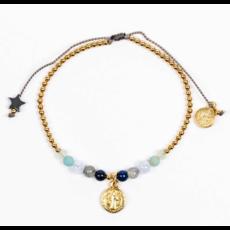 My Saint My Hero My Saint My Hero - Family Virtues Bracelet with Benedict Medal - Mix 10 Gemstones/Gold