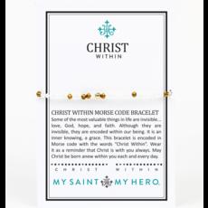 My Saint My Hero My Saint My Hero - Christ Within Morse Code Bracelet - Gold