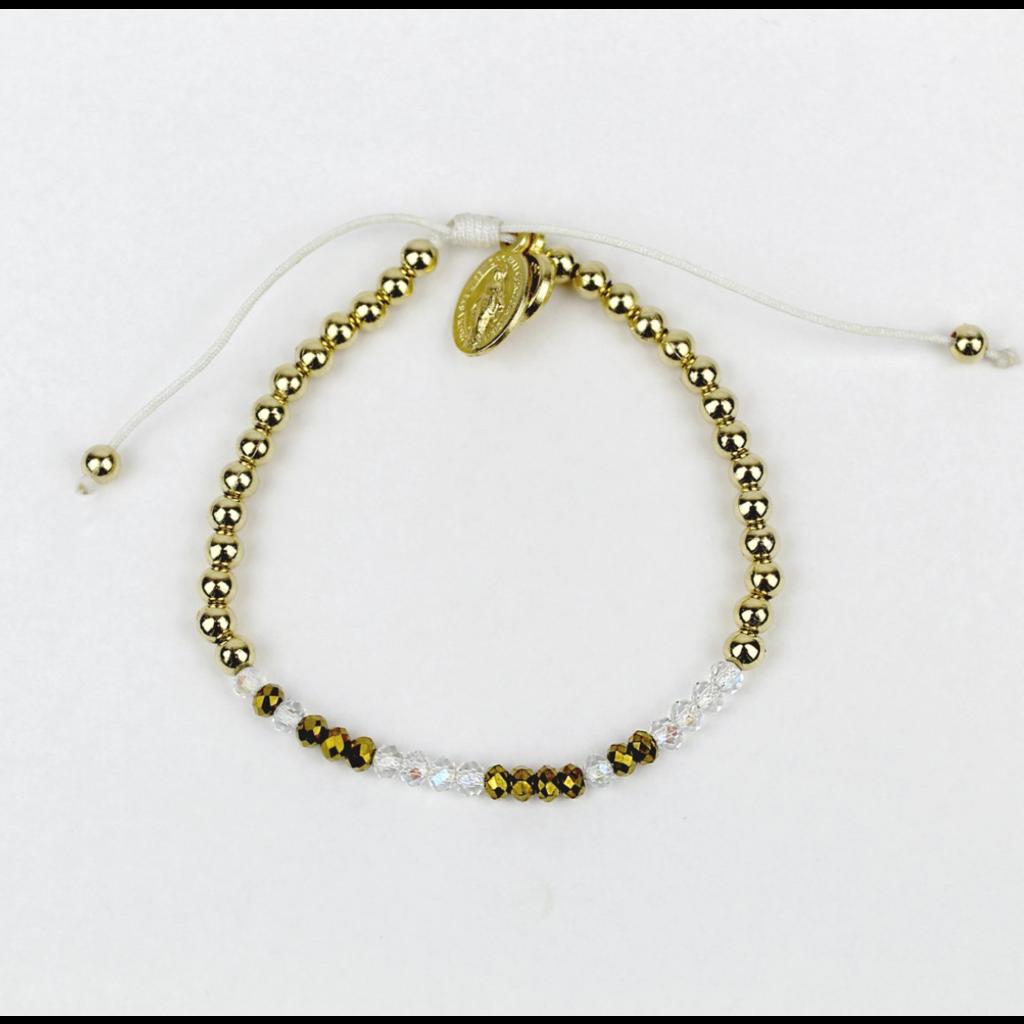 My Saint My Hero My Saint My Hero -  Sponsor Morse Code Bracelet - Gold