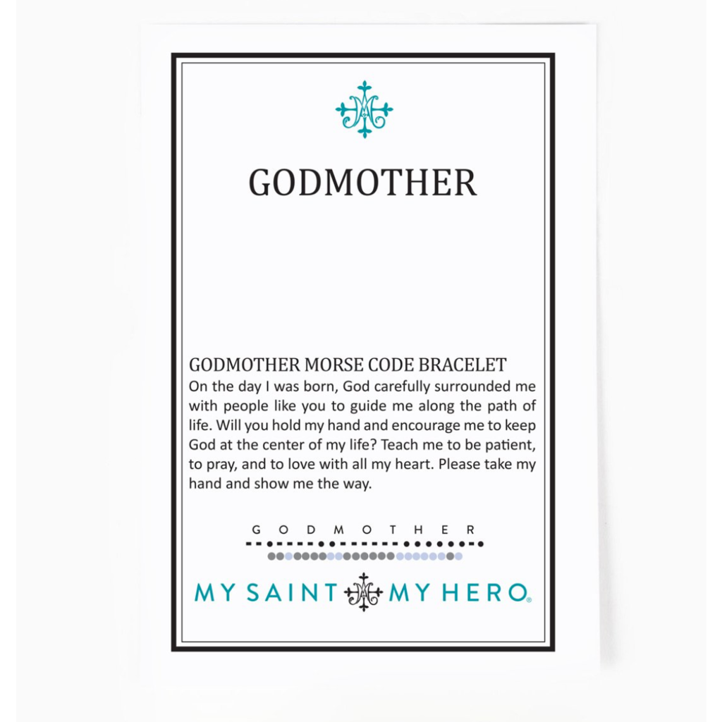 My Saint My Hero My Saint My Hero - Godmother Morse Code Bracelet - Silver