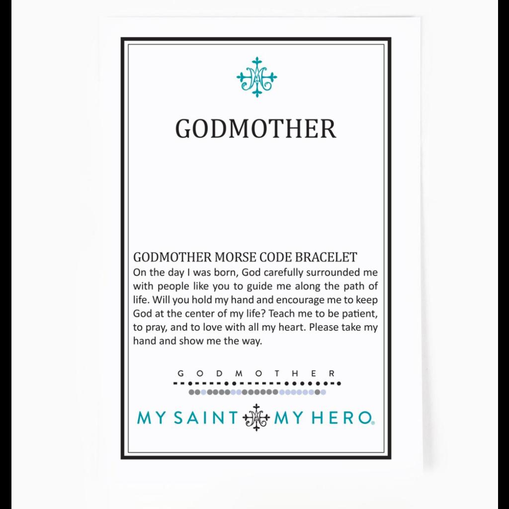My Saint My Hero My Saint My Hero - Godmother Morse Code Bracelet - Gold