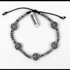 My Saint My Hero My Saint My Hero - Gratitude Crystal Bracelet - Silver/Silver