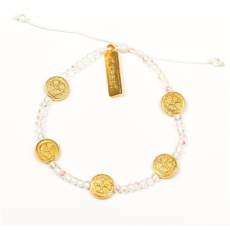 My Saint My Hero My Saint My Hero - Gratitude Crystal Bracelet - Gold/Crystal