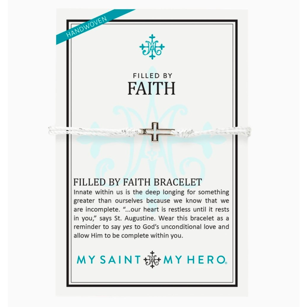 My Saint My Hero My Saint My Hero - Filled by Faith Bracelet - Metallic Silver/Silver