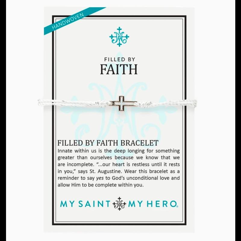 My Saint My Hero Filled by Faith Bracelet - Metallic Silver/Silver