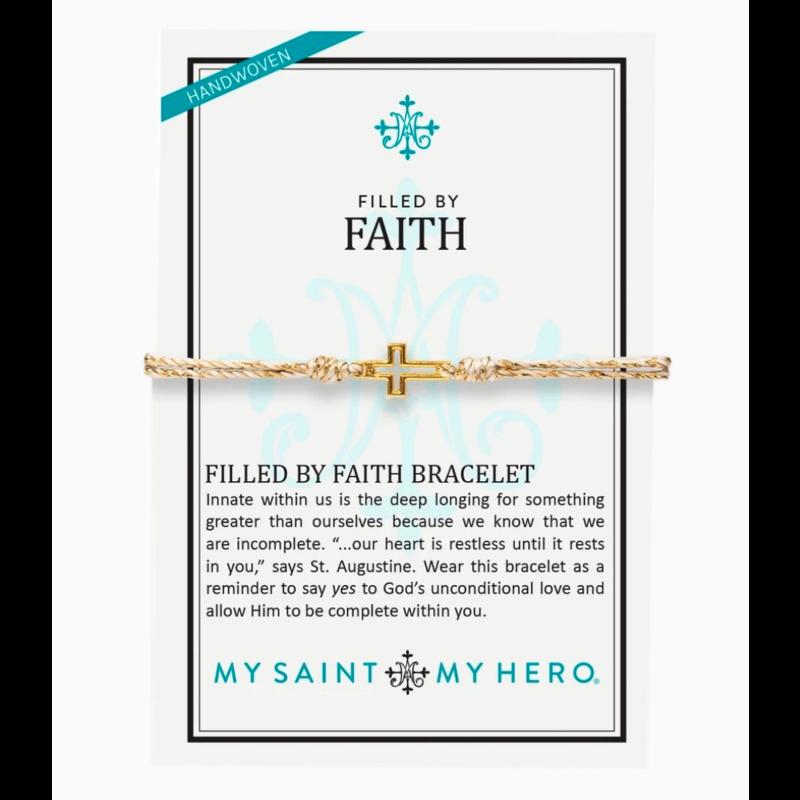 My Saint My Hero Filled by Faith Bracelet - Metallic Gold/Gold