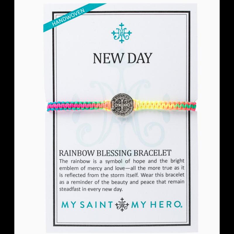 My Saint My Hero New Day Rainbow Blessing Bracelet - Rainbow/Silver