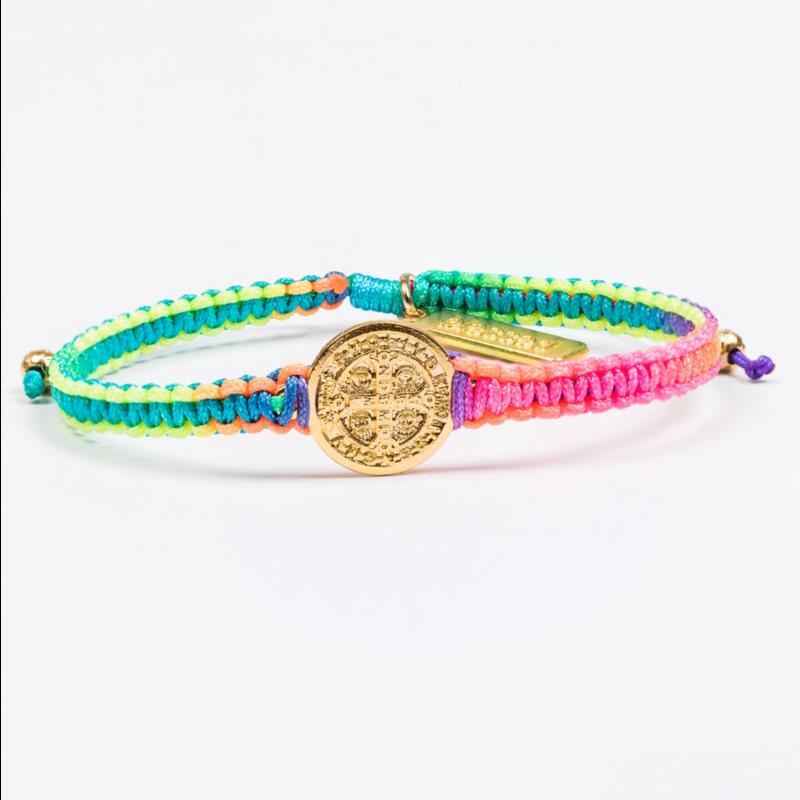 My Saint My Hero New Day Serenity Bracelet - Rainbow/Gold