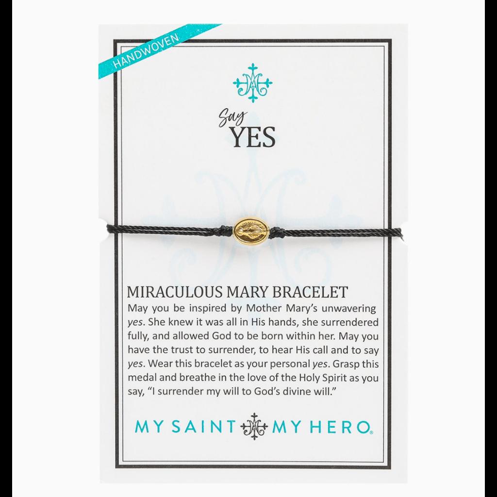 My Saint My Hero My Saint My Hero - Say Yes - Miraculous Mary Bracelet - Black/Gold