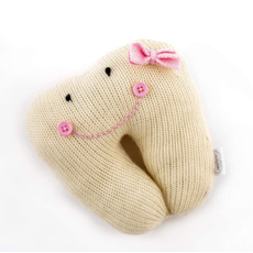 Mud Pie Solid Ivory Tooth Pillow
