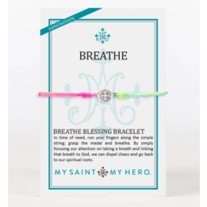 My Saint My Hero My Saint My Hero - Breathe Blessing Bracelet - Silver/Rainbow